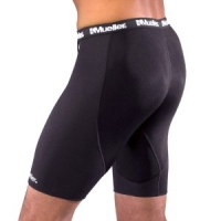 Compression Shorts with Breathable Panel
